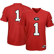 Gen2 Youth Georgia Bulldogs Red Performance Replica Football Jersey
