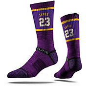 Strideline Los Angeles Lakers LeBron James Jersey Purple Crew Socks
