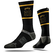 "Strideline Los Angeles Lakers LeBron James ""King 23"" Black Crew Socks"