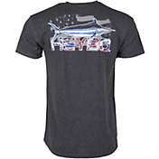 Heybo Men's American Shard Marlin Short Sleeve T-Shirt