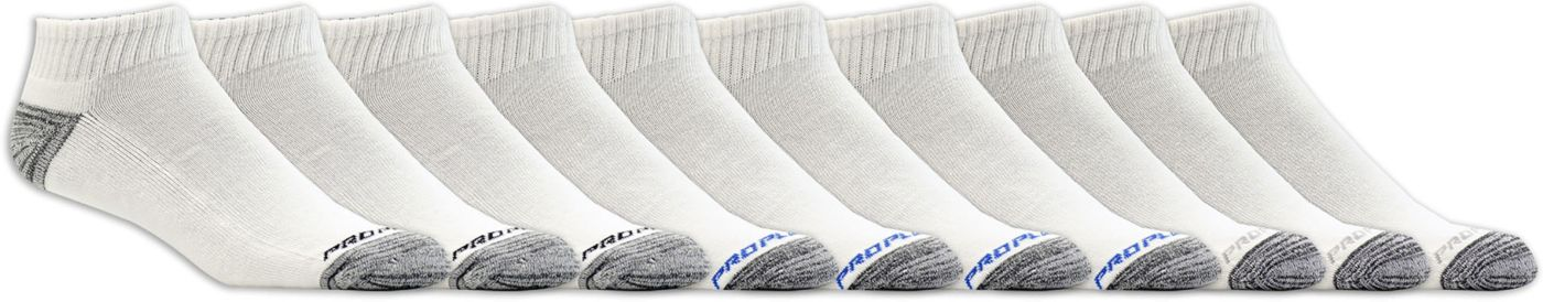 Pro Player Men's Half Cushioned Quarter Crew Socks 10 Pack