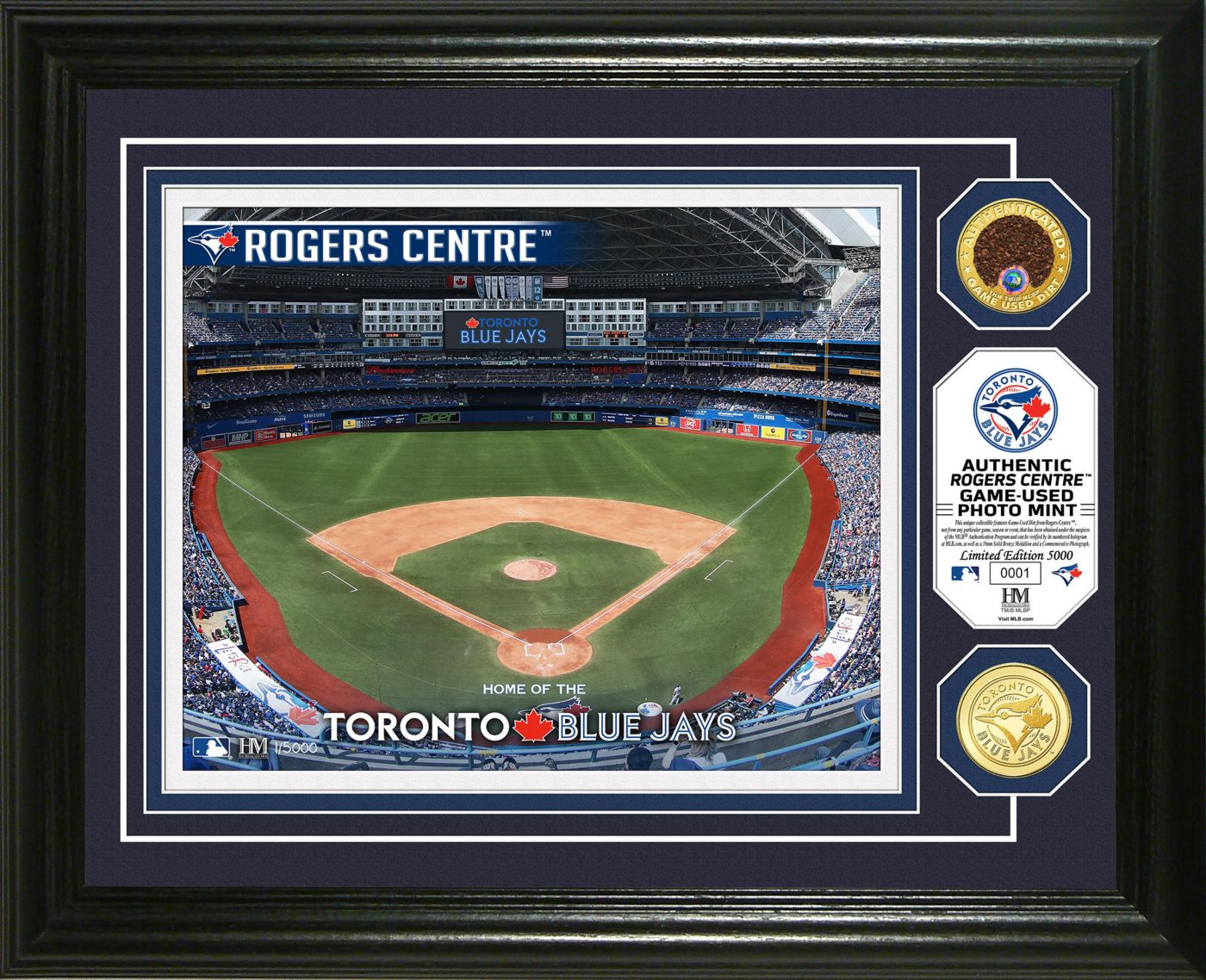 Highland Mint Toronto Blue Jays Dirt Coin Photo Mint