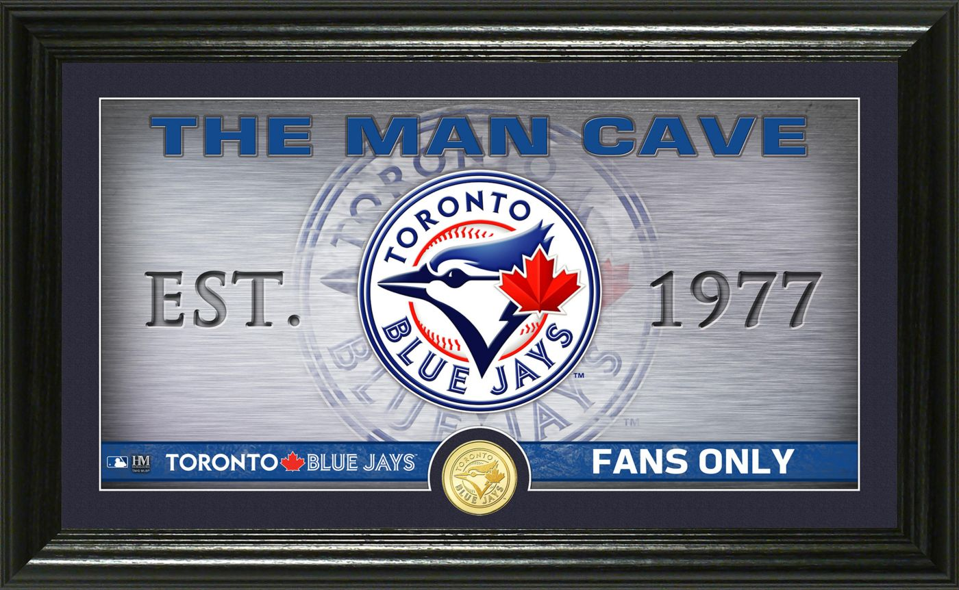 Highland Mint Toronto Blue Jays Man Cave Panoramic Bronze Coin Photo Mint