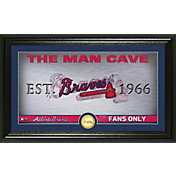 Highland Mint Atlanta Braves Man Cave Panoramic Bronze Coin Photo Mint