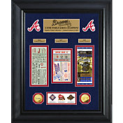 Highland Mint Atlanta Braves World Series Deluxe Gold Coin & Ticket Collection