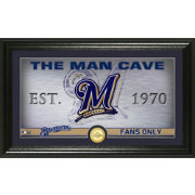 Highland Mint Milwaukee Brewers Man Cave Panoramic Bronze Coin Photo Mint