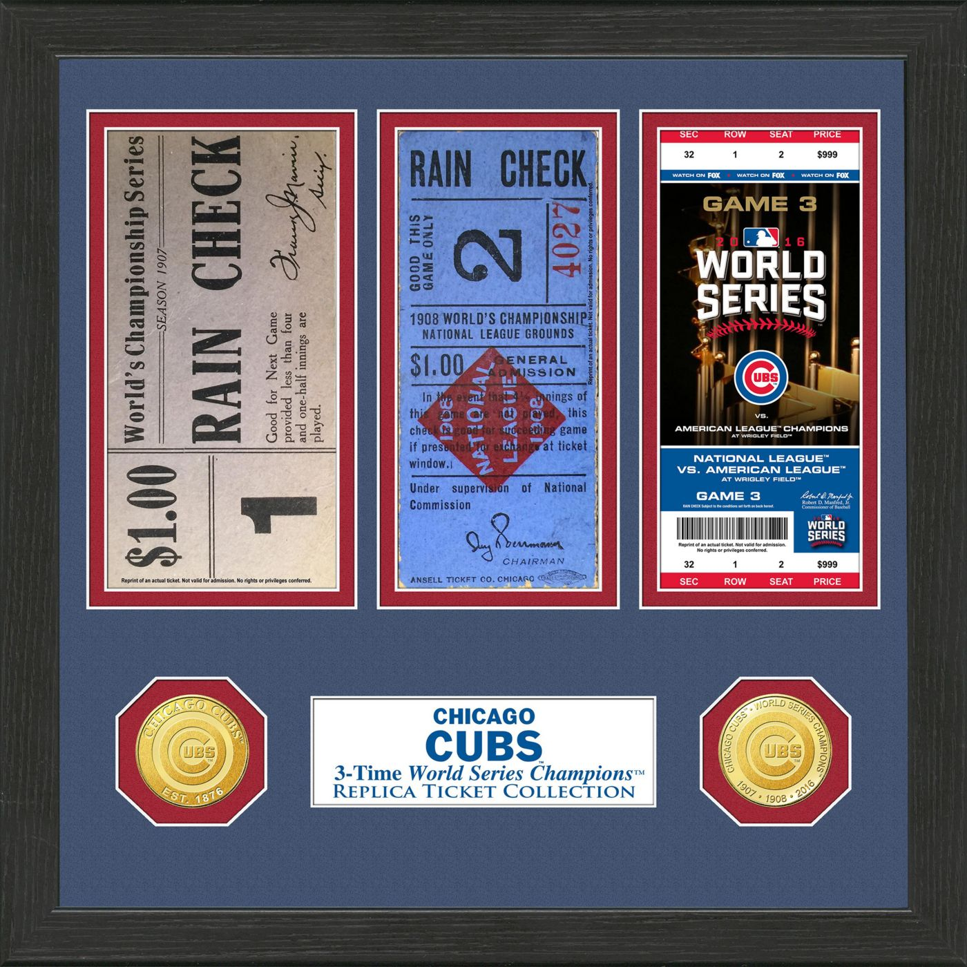 Highland Mint Chicago Cubs World Series Ticket Collection