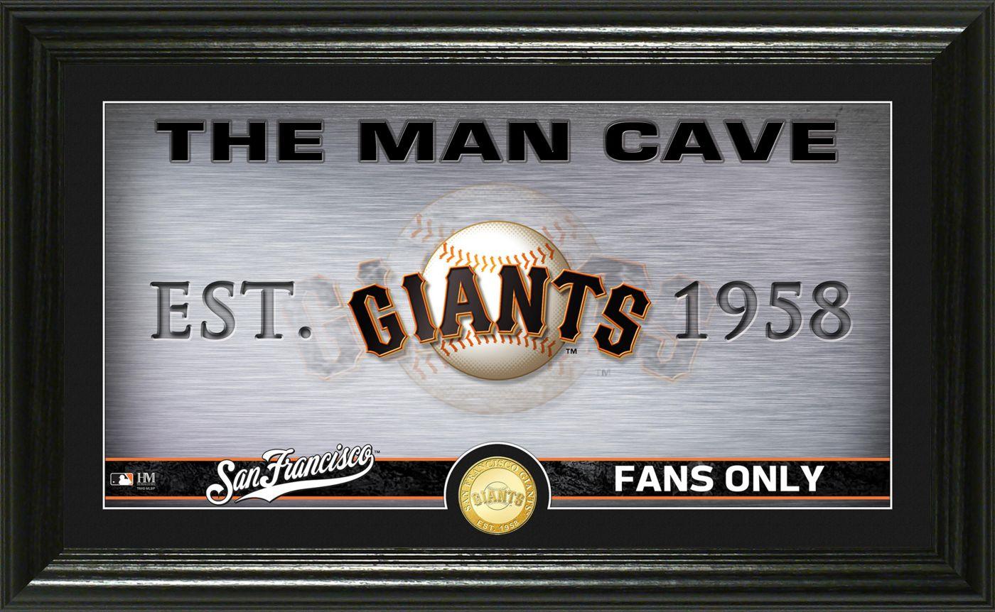 Highland Mint San Francisco Giants Man Cave Panoramic Bronze Coin Photo Mint