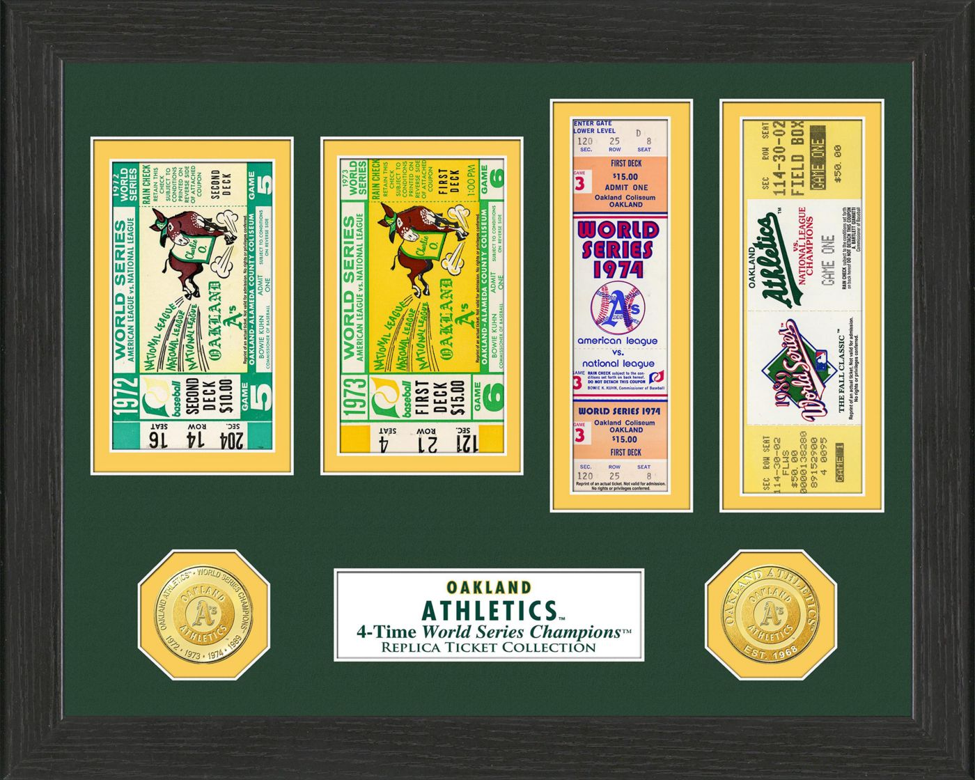 Highland Mint Oakland Athletics World Series Ticket Collection