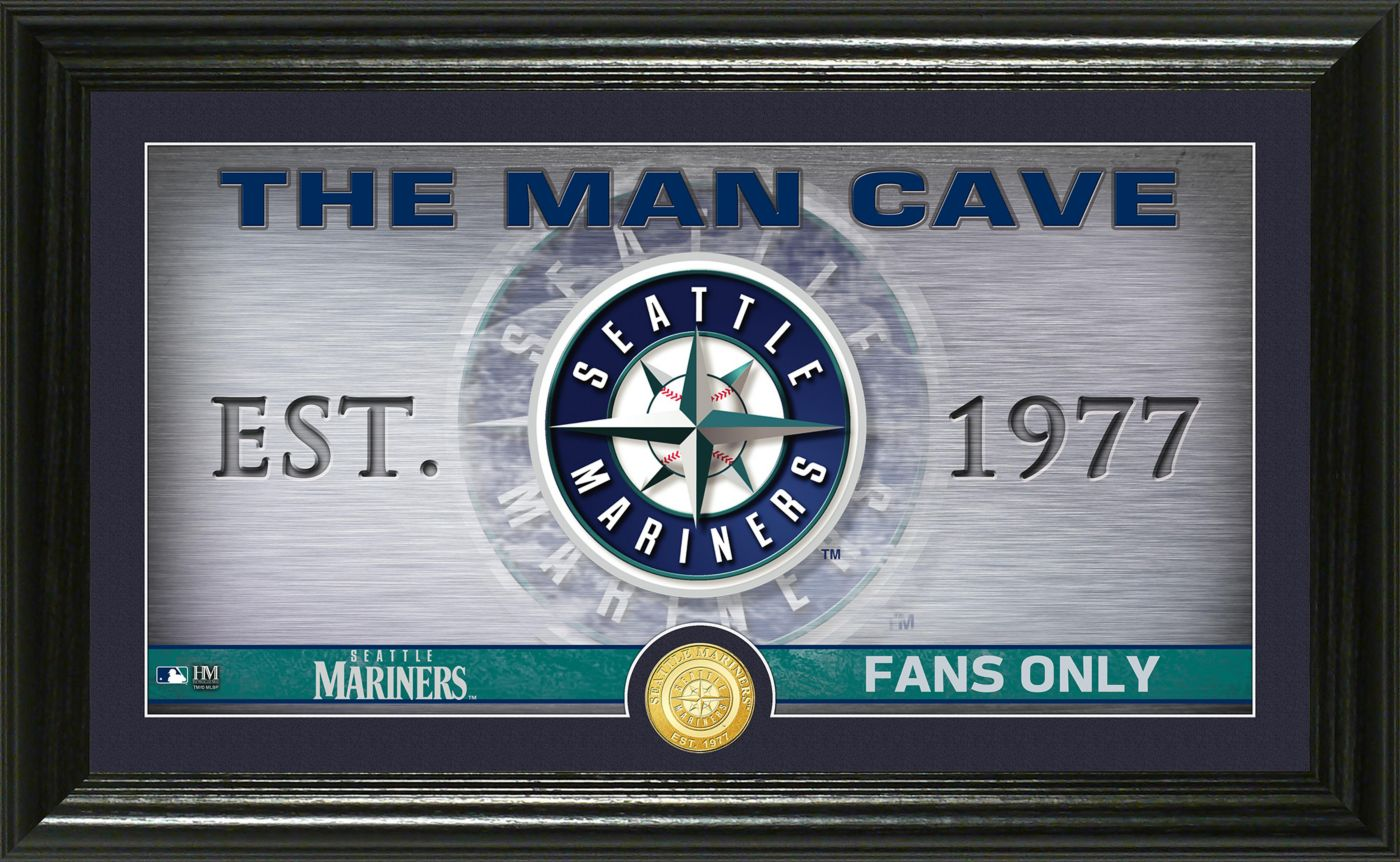 Highland Mint Seattle Mariners Man Cave Panoramic Bronze Coin Photo Mint