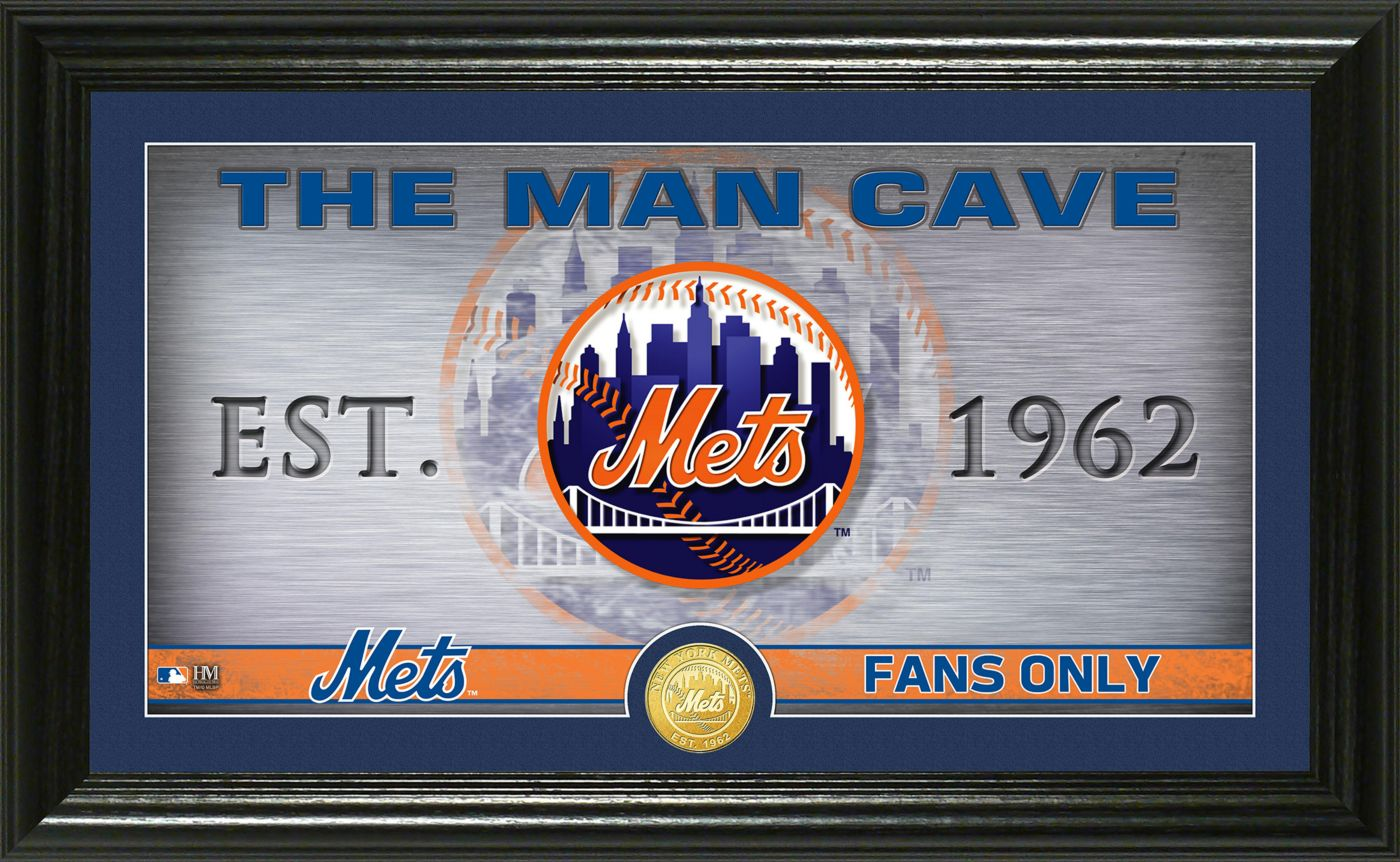 Highland Mint New York Mets Man Cave Panoramic Bronze Coin Photo Mint