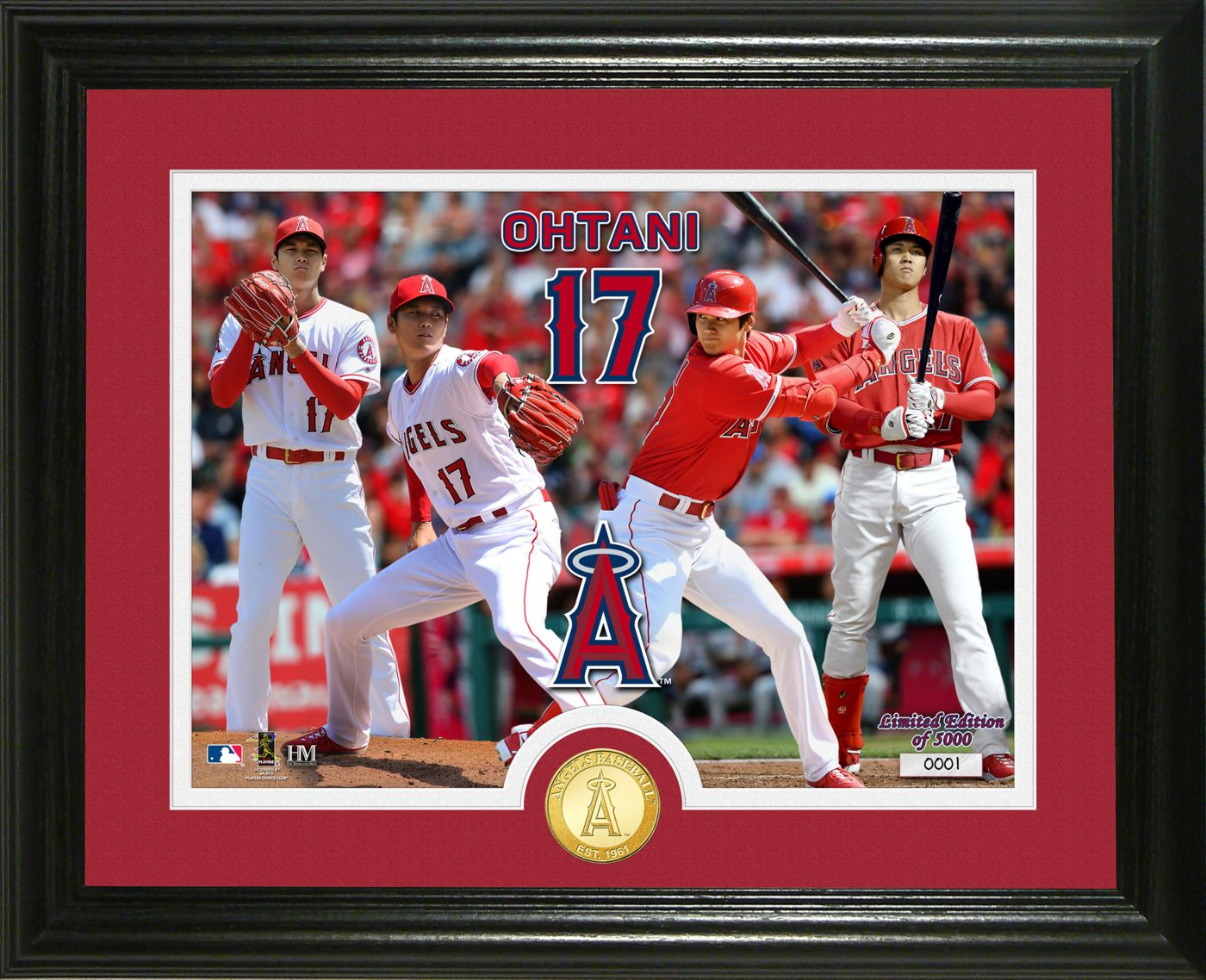 Highland Mint Los Angeles Angels Shohei Ohtani Dual Threat Bronze Coin Photo Mint