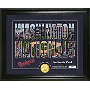 "Highland Mint Washington Nationals ""Silhouette"" Panoramic Bronze Coin Photo Mint"