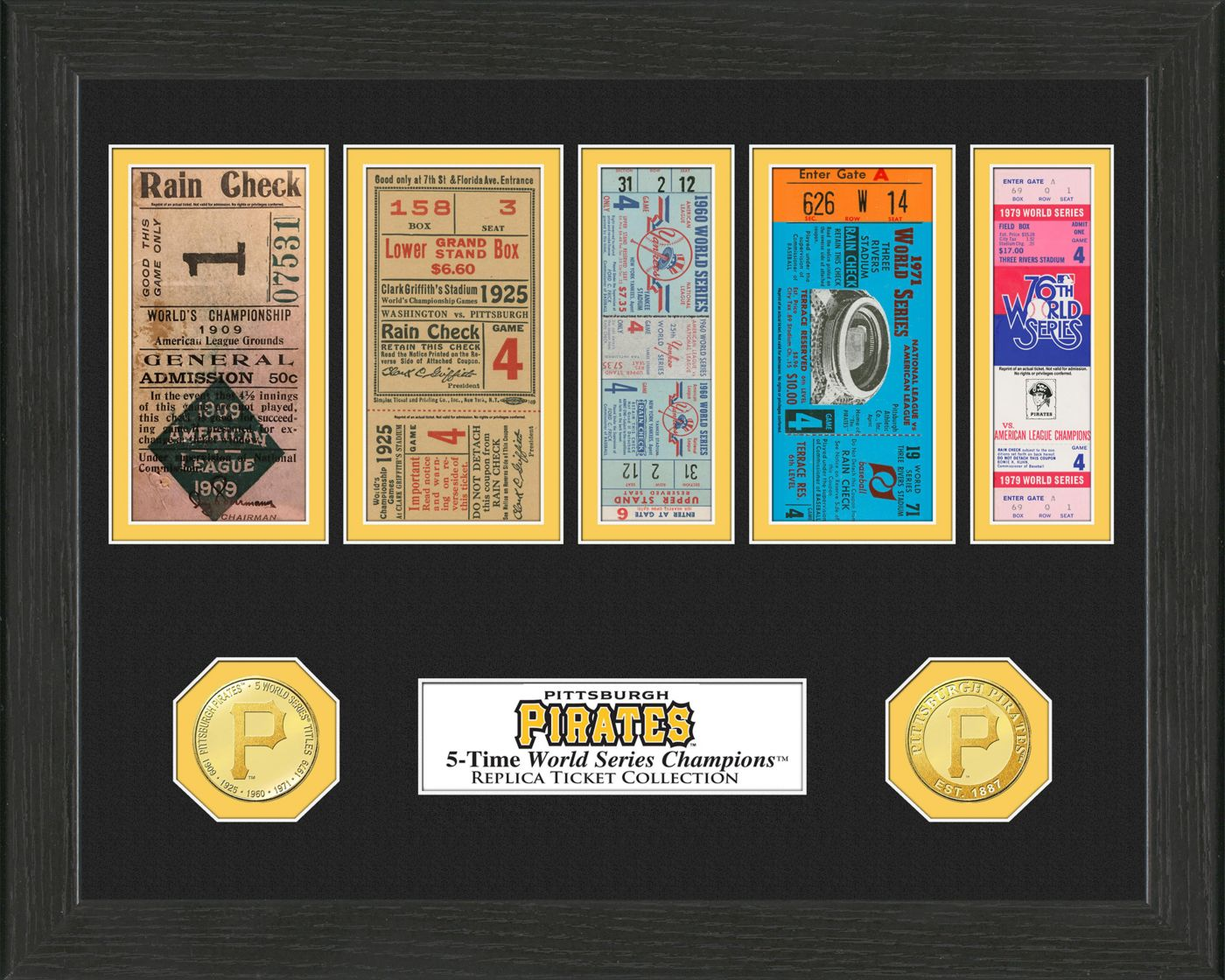 Highland Mint Pittsburgh Pirates World Series Ticket Collection
