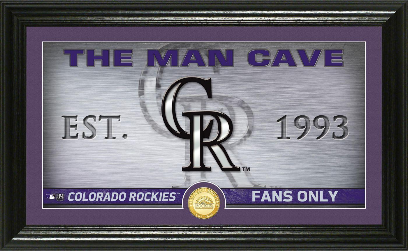Highland Mint Colorado Rockies Man Cave Panoramic Bronze Coin Photo Mint