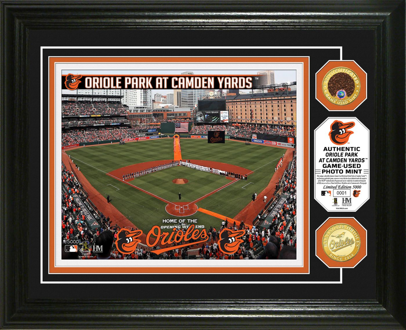 Highland Mint Baltimore Orioles Dirt Coin Photo Mint