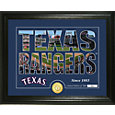 Highland Mint Texas Rangers Silhouette Photo Mint