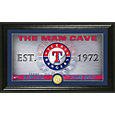 Highland Mint Texas Rangers Man Cave Panoramic Bronze Coin Photo Mint