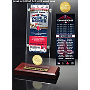 Highland Mint 2018 World Series Champions Boston Red Sox Ticket & Bronze Coin Acrylic Desk Top