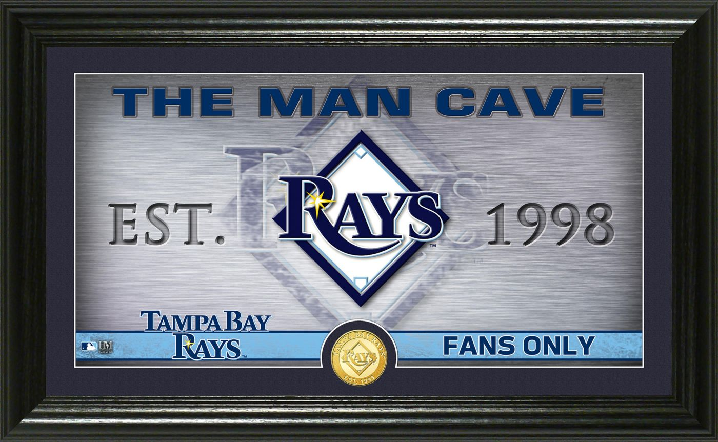 Highland Mint Tampa Bay Rays Man Cave Panoramic Bronze Coin Photo Mint