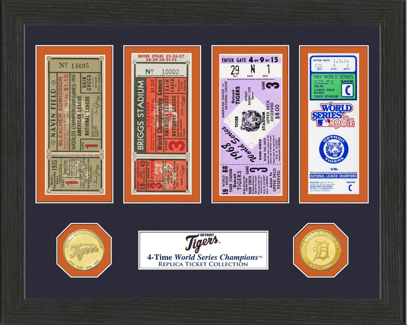 Highland Mint Detroit Tigers World Series Ticket Collection