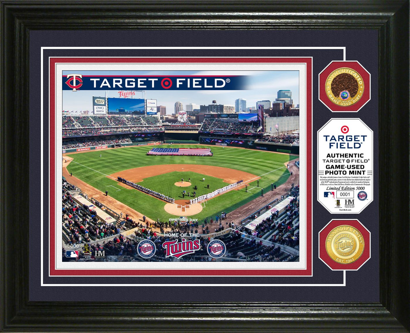 Highland Mint Minnesota Twins Dirt Coin Photo Mint