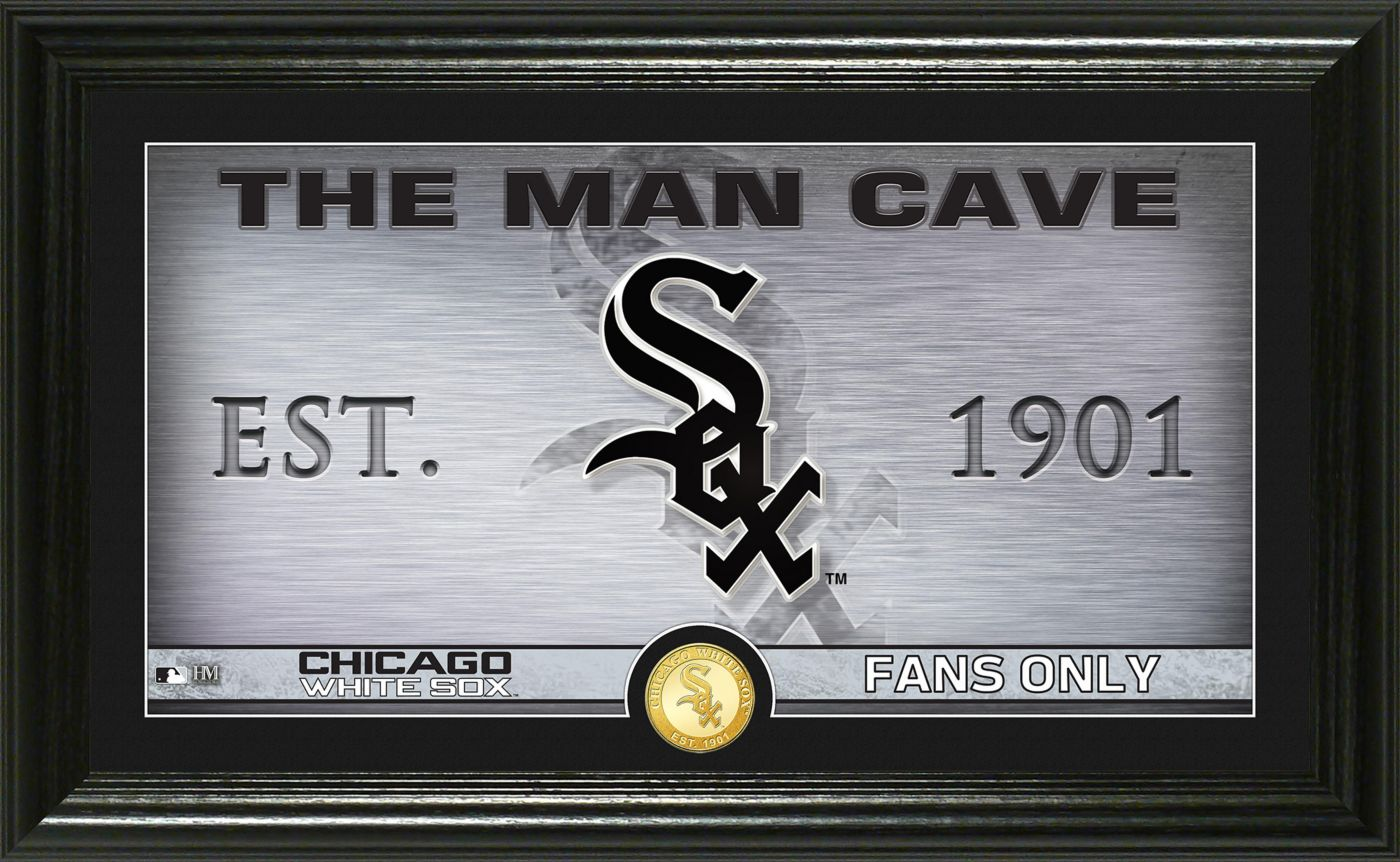 Highland Mint Chicago White Sox Man Cave Panoramic Bronze Coin Photo Mint