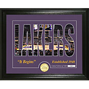 Highland Mint Los Angeles Lakers Silhouette Photo Mint