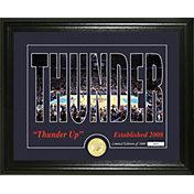 Highland Mint Oklahoma City Thunder Silhouette Photo Mint