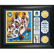 """Highland Mint 2018 NBA Champions Golden State Warriors """"Banner"""" Bronze Coin Photo Mint"""