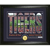 Highland Mint Auburn Tigers Silhouette Photo Mint