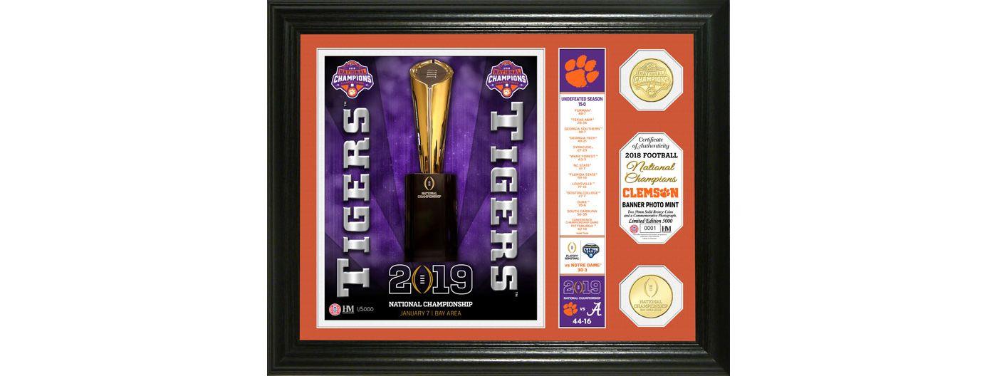 Highland Mint 2018 National Champions Clemson Tigers Banner Bronze Coin Photo Mint