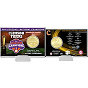 Highland Mint 2018 National Champions Clemson Tigers Bronze Coin Card