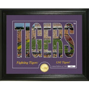 Highland Mint LSU Tigers Silhouette Photo Mint