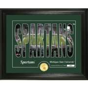 Highland Mint Michigan State Spartans Silhouette Photo Mint