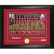 Highland Mint Nebraska Cornhuskers Silhouette Photo Mint