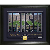Highland Mint Notre Dame Fighting Irish Silhouette Photo Mint