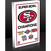Highland Mint San Francisco 49ers 5-Time Super Bowl Champions Commemorative 3D Art Block