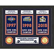 Highland Mint Denver Broncos Super Bowl Banner Collection Photo Mint