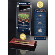 Highland Mint Denver Broncos Super Bowl Champions Ticket & Minted Coin Acrylic Desktop Display