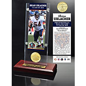 Highland Mint Chicago Bears Brian Urlacher 2018 Pro Football Hall of Fame Induction Ticket & Coin Acrylic Desktop Display