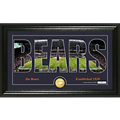 "Highland Mint Chicago Bears ""Silhouette"" Panoramic Bronze Coin Photo Mint"