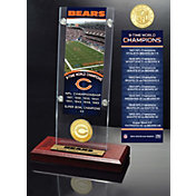 Highland Mint Chicago Bears Super Bowl Champions Ticket & Minted Coin Acrylic Desktop Display