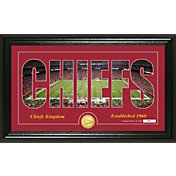 "Highland Mint Kansas City Chiefs ""Silhouette"" Panoramic Bronze Coin Photo Mint"