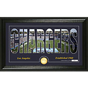 "Highland Mint Los Angeles Chargers ""Silhouette"" Panoramic Bronze Coin Photo Mint"