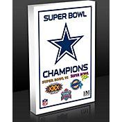 Highland Mint Dallas Cowboys 5-Time Super Bowl Champions Commemorative 3D Art Block