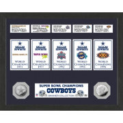 Highland Mint Dallas Cowboys Super Bowl Banner Collection Photo Mint