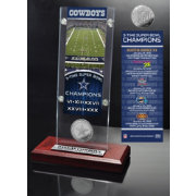 Highland Mint Dallas Cowboys Super Bowl Champions Ticket & Minted Coin Acrylic Desktop Display