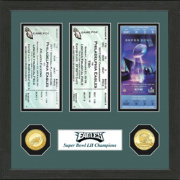 Highland Mint Super Bowl LII Champions Philadelphia Eagles Road to Super Bowl LII Ticket Frame