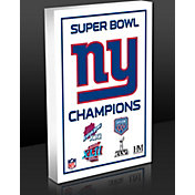 Highland Mint New York Giants 4-Time Super Bowl Champions Commemorative 3D Art Block